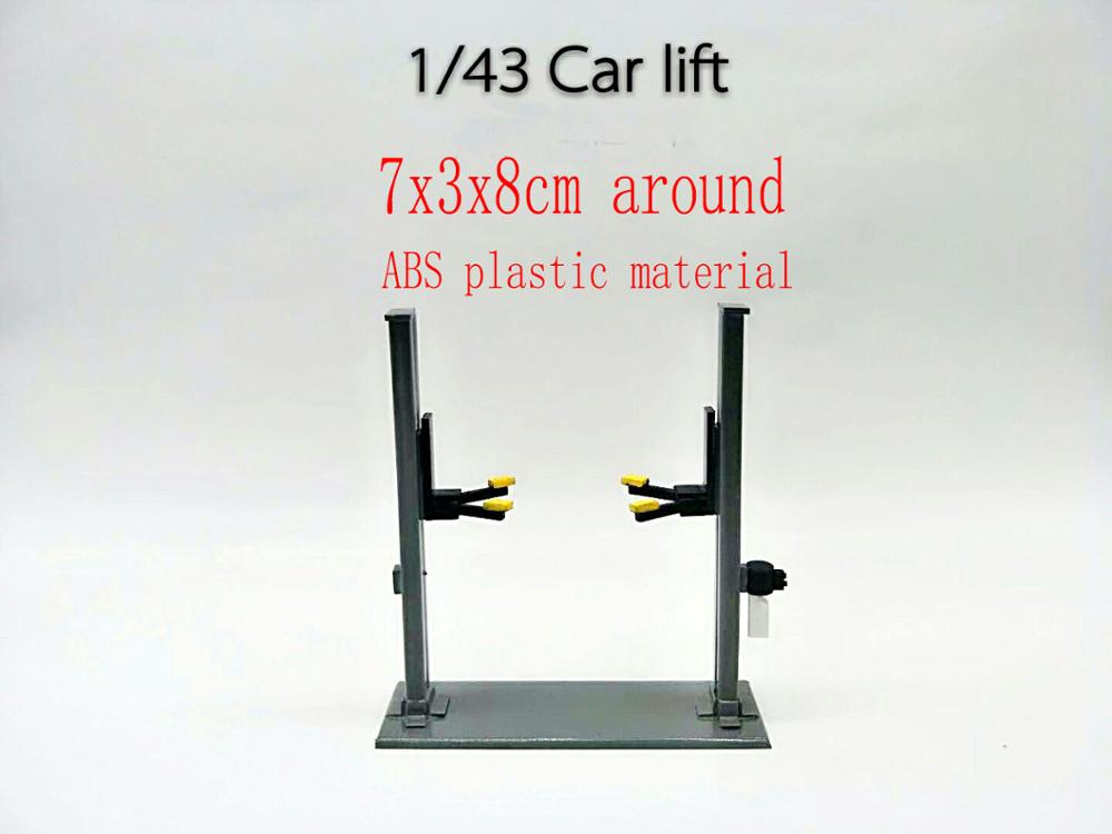 1/43 ABS Material  Lift Maintenance Scene Garage Props Model Car Repair Lift