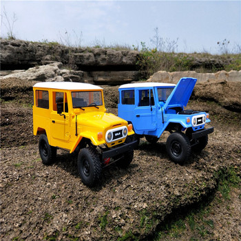 WPL C34KM RC Car 1:16 Metal Edition Kit 4WD 2.4Ghz  Radio Control Car Crawler Off Road Car 2CH Vehicle Models With Head Light 2