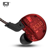 KZ ZS10 Headphones 10 drivers Earphones 4BA+1DD Dynamic hybrid Earbuds HiFi Bass Sport Headset Noise Cancelling in Ear Monitors