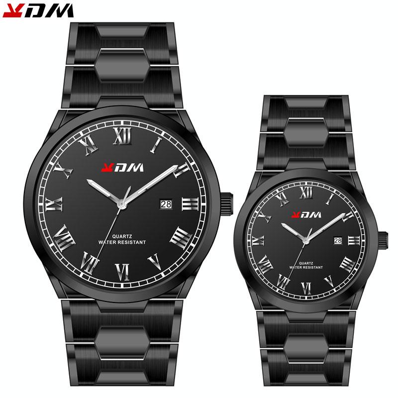 Steel Band Couple Watch Lovers Best Gift Reloj Para Parejas Pair Men And Women Watches Couples Relojes Pareja Elegant Regalo Hot