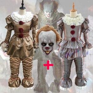 Image 3 - Killer Clown Cosplay Kostuum Maskerade Partij Office Party Apparatuur Masker Killer Camouflage Halloween Kostuum