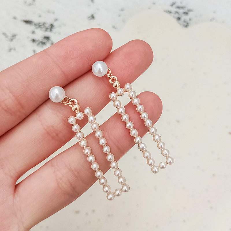 2020 New High-end Seaside Holiday Style Square Pearl Fashion Trendy Simple Earrings For Women Accessories Oorbellen Trendy