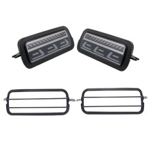 DHBH-2Pcs Led Daytime Running Light for Lada Niva 4X4 1995  Turn Signal Light Drl Car Headlight Replacement Parts with Lamp Cove(China)