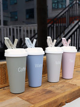 500ml Kawaii Hot Water Water Bottle for Girls Stainless Steel Thermos Coffee Cup with Straw Tea Garrafa Thermo Cup for Coffee