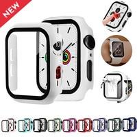Glas + fall Für Apple Watch Serie 6 5 4 3 se 44mm 40mm iwatch fall 42mm 38mm stoßstange Screen Protector + abdeckung apple watch zubehör
