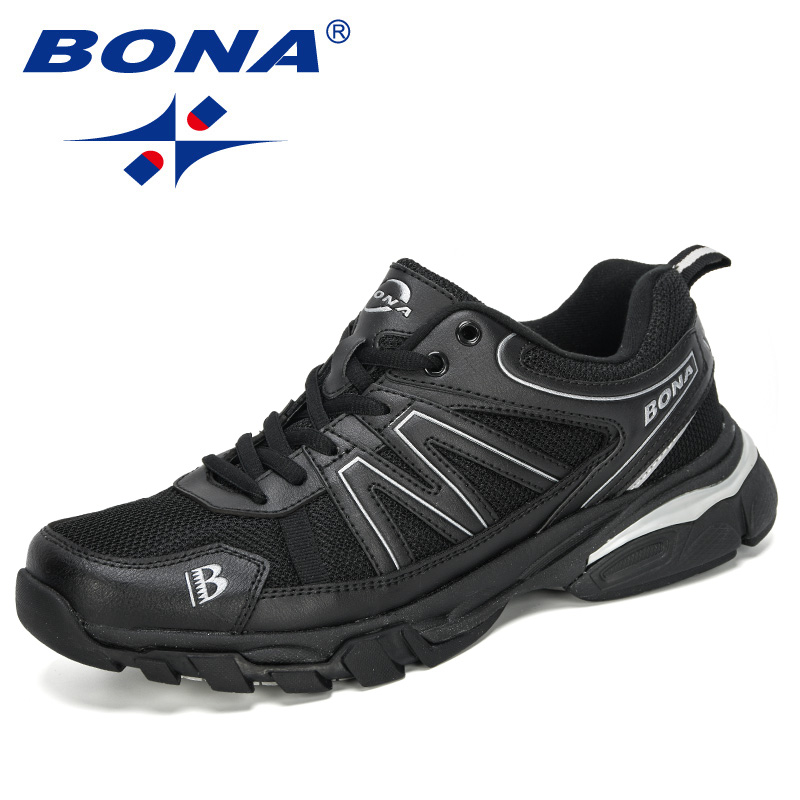 BONA 2020 New Designers Light Running Shoes Men Sport Shoes Breathable Sneakers Man Height Increase Walking Footwear Comfortable