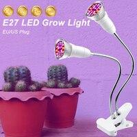E27 Plant Lamp LED Full Spectrum Grow Lights 18W 28W LED Growing Lights For Indoor Greenhouse LED Vegetable Flower Bulb 2835|LED Grow Lights|   -