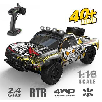 1:18 4wd 2.4g Rc Off-road Vehicle 40km / H High-speed Remote Control Car All-terrain Vehicle Remote Control Graffiti Suv Kid Toy