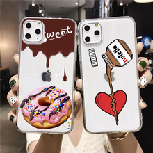 PUNQZY Food Donut Ice Cream Cover Case For Samsung Galaxy A50 A70 S11 S10 S9 S8 PLUS S7 S6 Transparent Soft TPU CASE Ice Cream