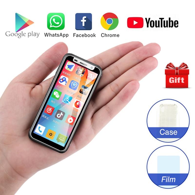 Melrose 2019 Super Mini Smartphone Ultra Sottile Da 3.4 Pollici MTK6739V 1GB 8GB Android 8.1 di Impronte Digitali ID 5MP 4G del telefono mobile pk s9 più-in Telefoni cellulari e smartphone da Cellulari e telecomunicazioni su  Gruppo 1