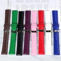 Echtes Leder Uhrenarmbänder 10 12 14 16 18 19 20 22 24 MM Uhr Stahl Pin schnalle Band Strap Hohe qualität Handgelenk Gürtel Armband