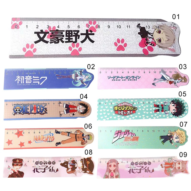 1PCS Anime Toilet-Bound Hanako-kun Naruto Cosplay Ruler Measuring Scale Students Cartoon Measure Ruler Gift