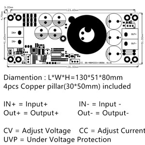 Image 5 - New 1800W 40A CC CV Boost Converter DC DC Step Up adjustable Power Supply Module DC 10V 60V TO 12V  90V electric booster