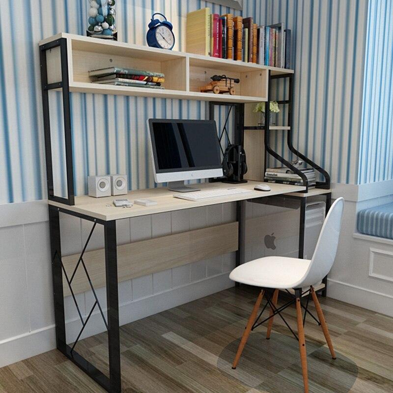 Louis Fashion Computer Desk Home Use Bookshelf Combination Simple Modern Double Notebook Table