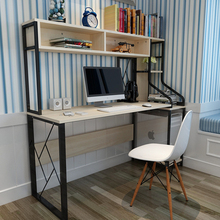 Louis Fashion Computer Desk Home Use Bookshelf Combination Simple Modern Double Notebook Table desktop home modern simple computer desk