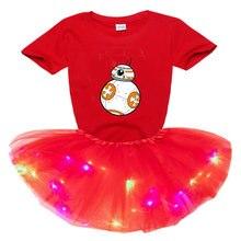 Комплект летней одежды для девочек мультяшное платье детская