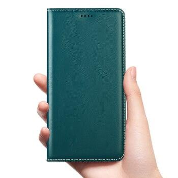Babylon Genuine Leather Flip Case For Xiaomi Redmi Note 2 3 4 4X 5 6 7 8 8T K20 K30 10X 5G Pro S2 Go Plus Cell Phone Cover Cases