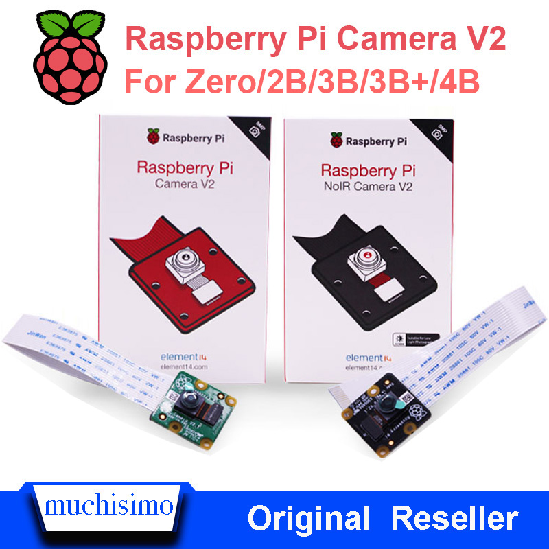 New Original Raspberry Pi 4 Model B 4B 3B Plus 2B Zero Camera V2 & PiNoir Camera V2 Video Module 8MP E14 Version