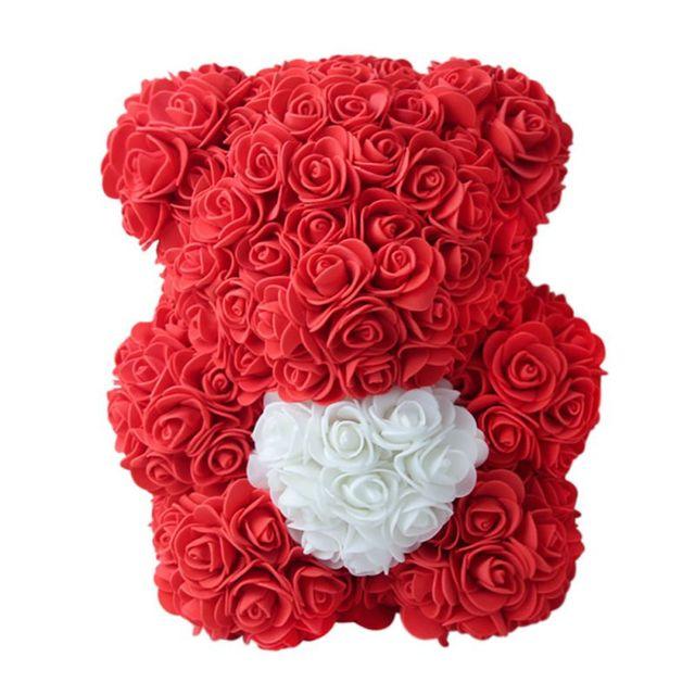Immortal Rose Teddy Bear Gift Box - novariancreations.com