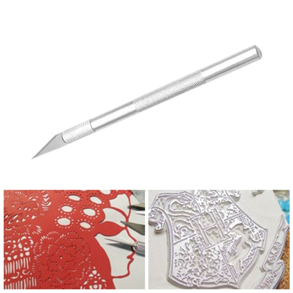 Portable Craft Knife Precision Blade Cutter Non-slip Handle Professional Metal Engraving Tool For Wood Paper Stencil