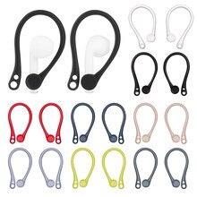 Silicone anti-queda ganchos de orelha para apple airpods 1 2 bluetooth fone de ouvido earhooks anti-lost seguro ajuste suportes de fone de ouvido para airpods