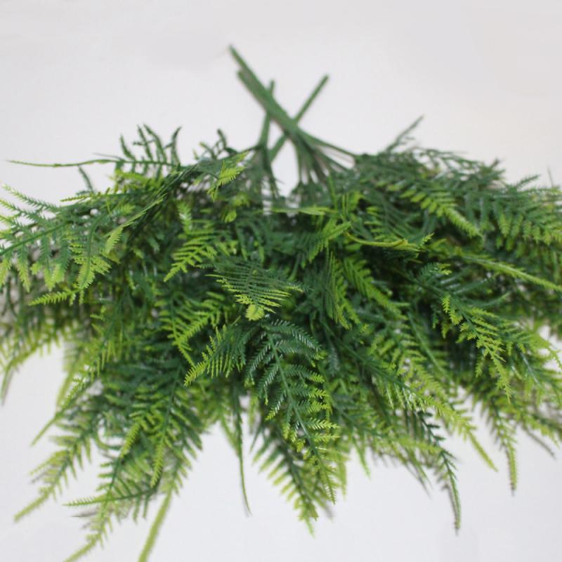 7 стеблей, искусственные спаржи, папоротник, трава, высокое качество, ворсовый цветок, для дома и офиса, зеленое пластиковое декоративное рас...