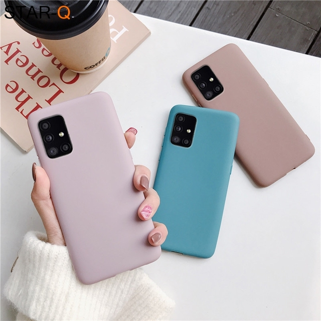 candy color silicone phone case for samsung galaxy a51 a71 5g a31 a11 a41 m51 m31 a21s a91 A81 A01 matte soft tpu cover 4