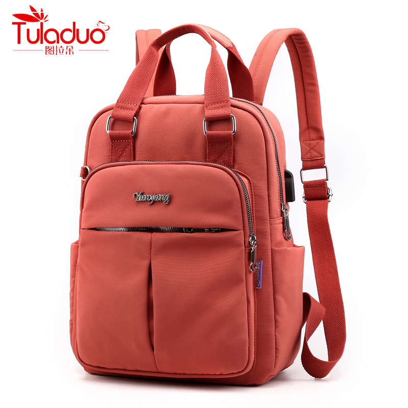 Waterproof Large Capacity Women Backpacks Famous Brand School Bag For Teeanger Girls Fashion Multi-pocket Ladies Backpacks 2020