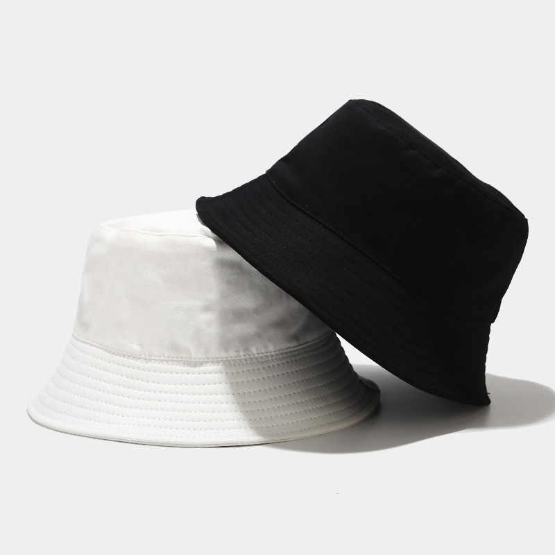 Bucket hat Fashion Unisex Bob Caps Hip Hop Beanies Mens Ladies Outdoor Warm Wind Bucket hat,Black,55-58cm Head