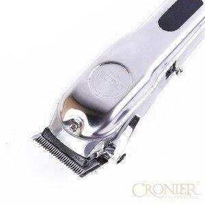 Image 2 - Profissional máquina de cortar cabelo elétrica display lcd recarregável aparador de cabelo para homens barba barbeador barbeiro máquina de corte de cabelo