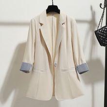 Летний пиджак дамы ol Моды тонкий Блейз пальто женщин костюм куртка женщин с длинным рукавом дамы рабочая одежда пиджак