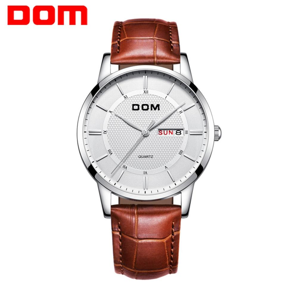 DOM Watches Fashion Men Top Brand Luxury Mens Steel Wristwatches Men's Quartz Sports Watches relogio masculino M-11L-7M2