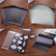 10 stücke/set 0,3mm Magnetische Blätter & Kunststoff Ordner Taschen Für Lagerung Schneiden Stirbt Briefmarken Organizer Halter Transparent taschen 7x5inch