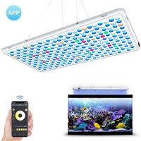 60W Aquarium LED Light Panel APP Control 338 LEDS Fish Tank Lamp Water Sterilization Device with Auto Switch Timer US/UK/JP/EU