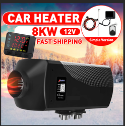 HCalory 12V 8KW Car Diesels Air Parking Heater Car Heater LCD Remote Control Monitor Switch Trucks Bus Trailer (Simple Vwesion)