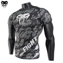 SOTF MMA Змея голова Камуфляж для фитнеса дышащие обтягивающие боксерские Джерси Тигр Муай Тай джиу джитсу футболка для mma rashguard бокса