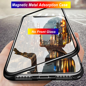 Магнитный чехол на 360 градусов для Huawei Y9 Y6 Prime 2019 Y9S, стеклянный металлический чехол-накладка для Huawei Honor 8X 8S 10 20 Pro 9X, китайский чехол