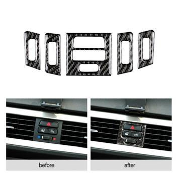 For BMW E90 E92 E93 05-12 Carbon Fiber Central Control Outlet Air Vent Trim Decoration Air Vent Outlet Covers For Car Accessorie image
