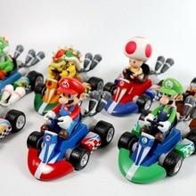 1/6/7PCS Super Mario Bros Kart Car Mario Luigi Kart Racing Car PVC Toys Kids Gift Home Decoration