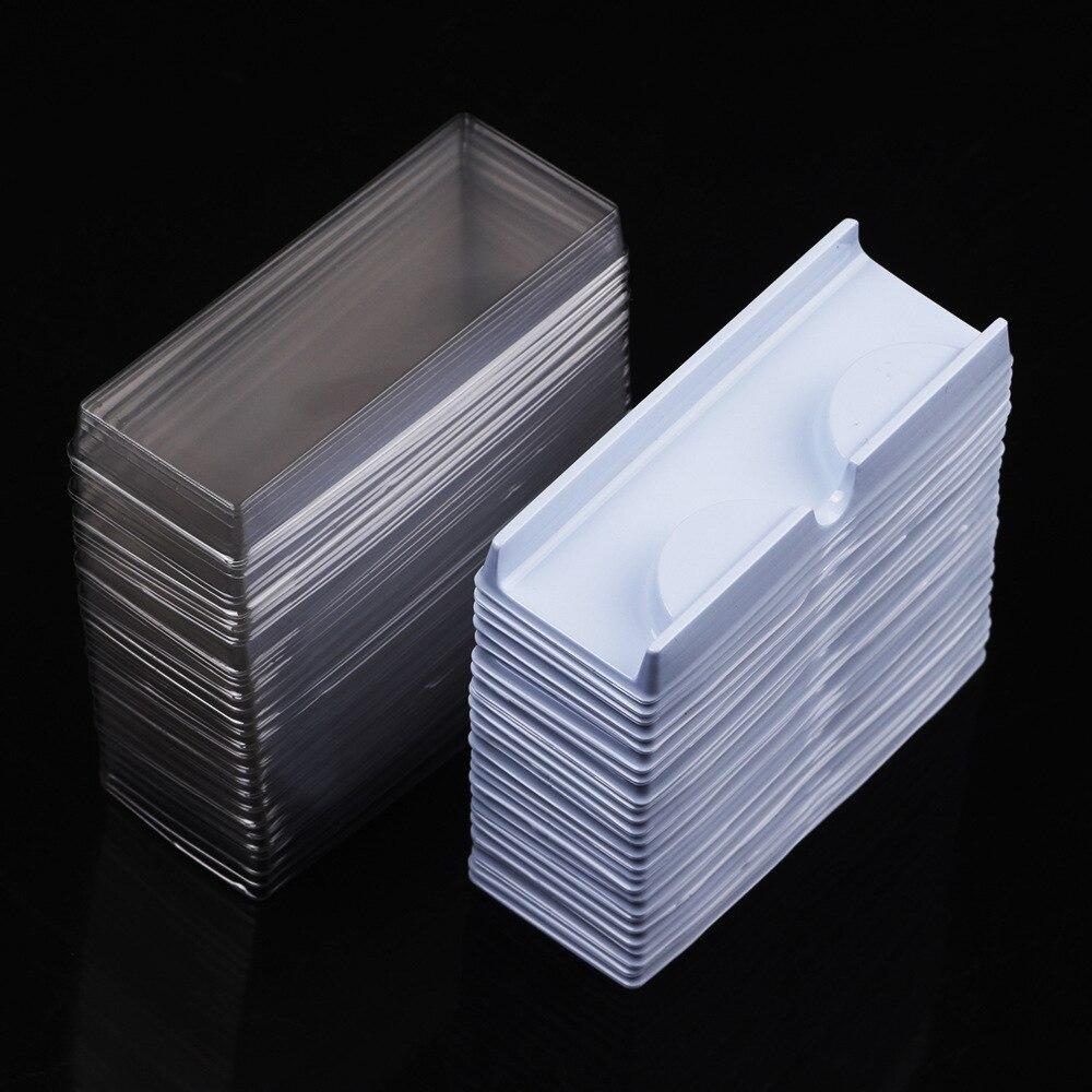 100pcs False Eyelash Packing Box Lid Tray Eyelashes Storage Transparent Empty Lash Case Makeup Storage Organizer for Travel(China)