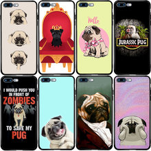 Pug Puppy Hond Cover Case Voor Xiaomi Redmi Note 10 9 9S 9T 8 8T 8A 7A 6 6A 5 5A 5X 4X A1 A2 Pro Max Lite Plus(China)