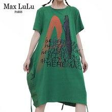 Max LuLu – robe à col rond pour femmes, vêtement britannique, imprimé, vert, en coton, à la mode, 2021