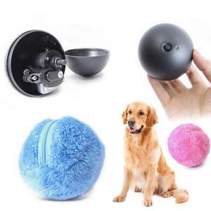 Bola de rodillo mágica, juguete para perros y gatos, bola automática de activación, juguetes de felpa para masticar, limpieza de suelo, herramientas eléctricas automáticas para mascotas, bolas de felpa