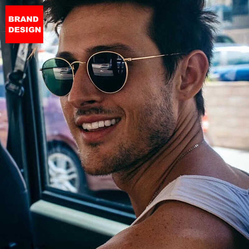Luxury Brand Round Sunglasses Men Women Vintage Retro Sun Glasses For Men Male Sunglasses 2020 ray bann okulary zonnebril heren