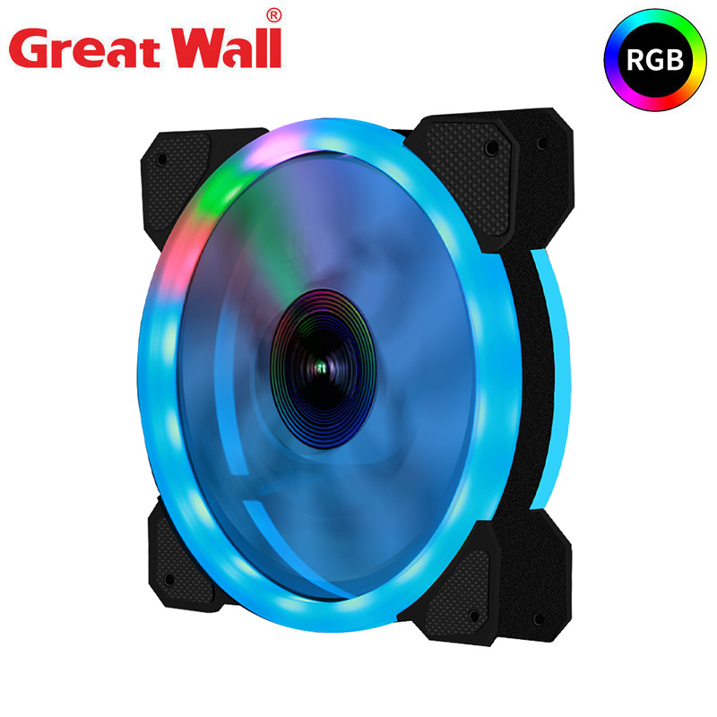 Great Wall PC Case Fan RGB Adjustable LED 12V With RF Remote Controller Computer Cooler Fan 120mm AURA SYNC PC Cooling Fan|Fans & Cooling| - AliExpress