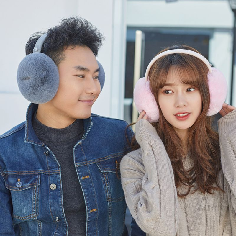 Unisex Winter Warm Bluetooth Earmuffs Wireless Plush Earphone Music Ear Warmers
