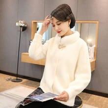 2020 inverno roupas de meia idade casaco de pele feminino novo quente pelúcia famale jaqueta moda pele vison cashmere casacos feminino topo a76