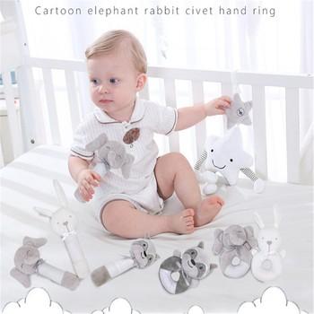 Niemowlę zwierzęta Kawaii dzwonki ręczne miękki dzwonek zawieszany zabawki grzechotka łóżko dzieci bawią się miękka bawełniana wygodne zabawki dla dzieci tanie i dobre opinie CoCoHoUSE 7-12m 13-24m 25-36m cotton CN (pochodzenie) plush toys Unisex Children Toys NONE rozdzielone bunny plush SOFT