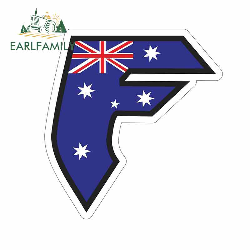 AUSTRALIA Map Flag bumper sticker decal 5 x 4 Ride in Style