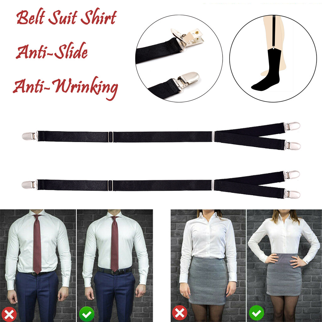 Suspenders Y-Style Near Shirt-Stay Best Shirt Stays Bts . Black Tuck It Belt Shirt Tucked Braces Mens Women Suspenders Fashion